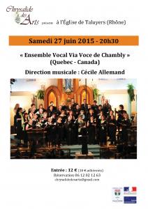 concert chrysalide des arts 27 juin