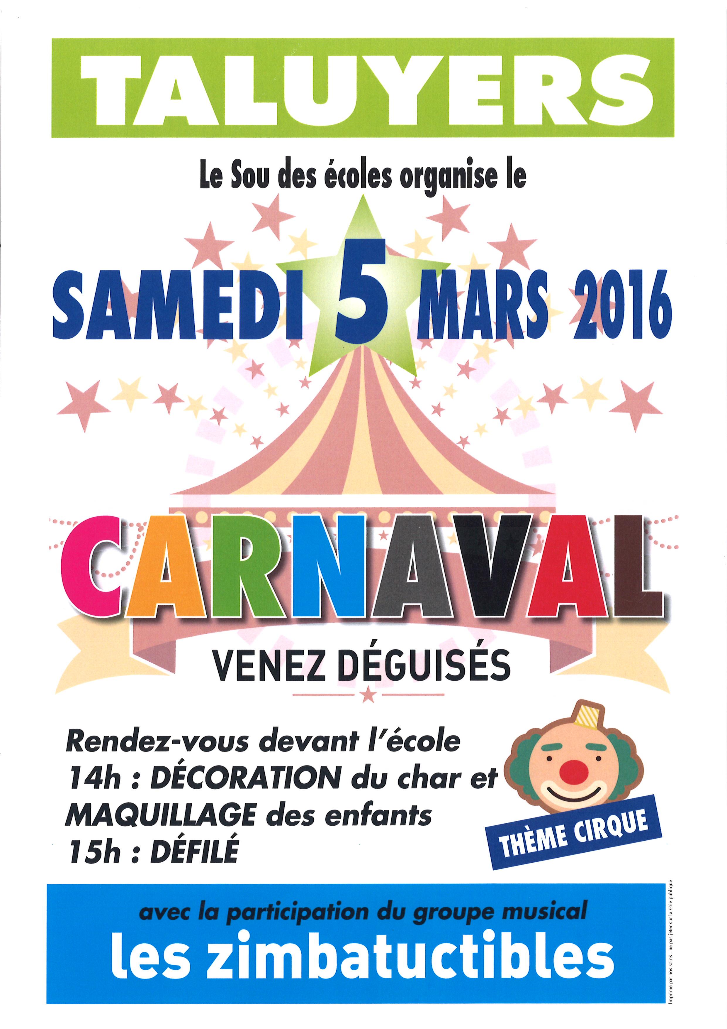 Carnaval le 5 mars