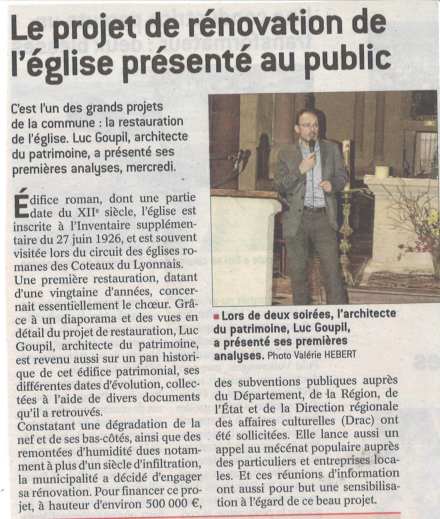 2018-05-08 PROJET DE RENOVATION DE L'EGLISE PRESENTE AU PUBLIC