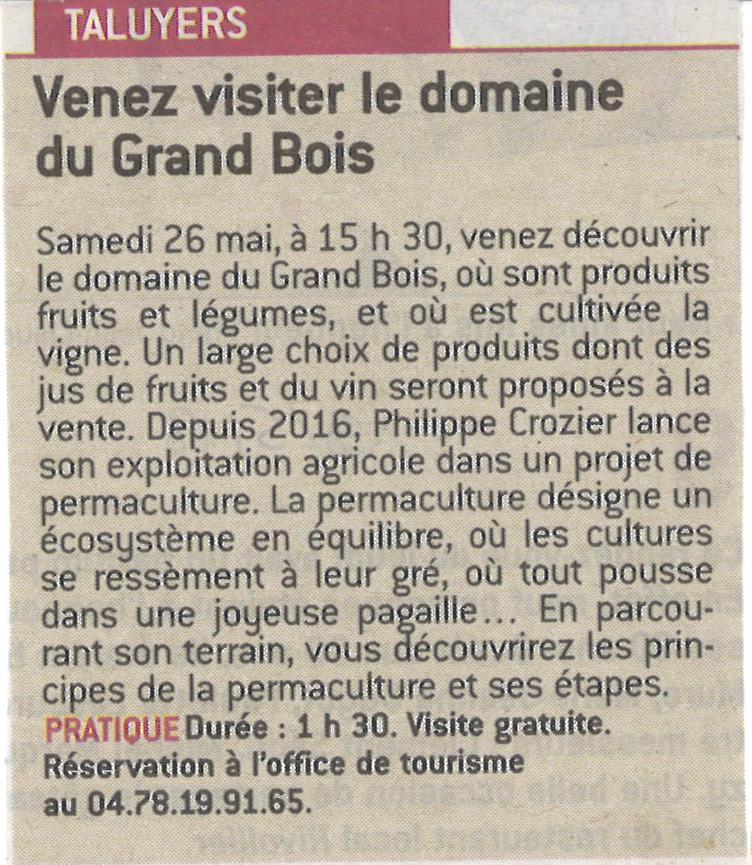 2018-05-19 VENEZ VISITER LE DOMAINE DE GRAND BOIS