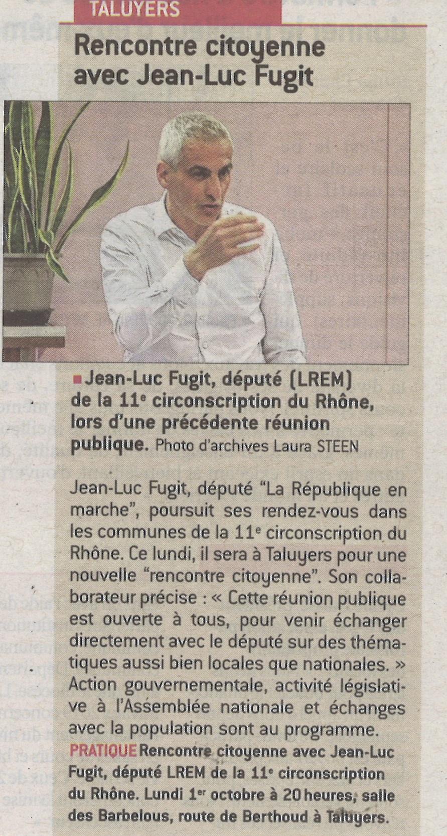 Rencontre citoyenne avec Jean-Luc Fugit
