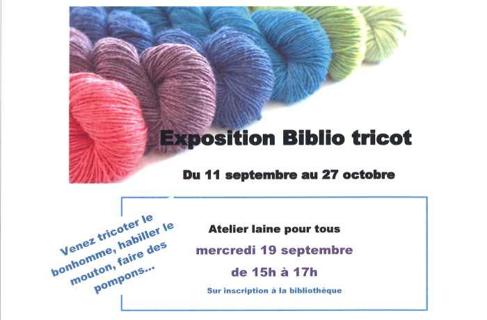 EXPOSITION BIBLIO'TRICOT