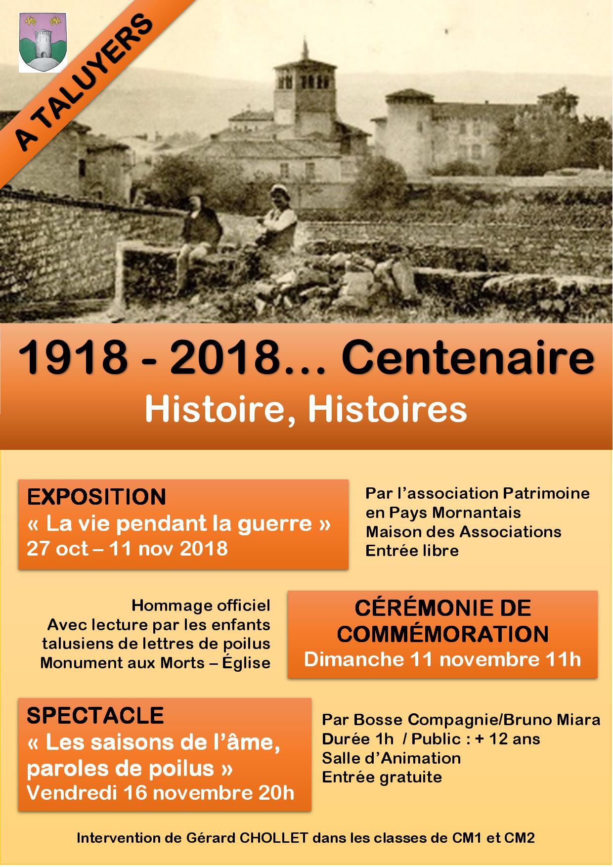 DEFINITIVE affiche centenaire du 11 TALUYERS