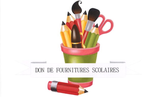 DON DE FOURNITURES SCOLAIRES