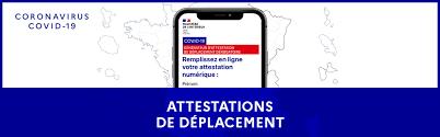ATTESTATIONS DE DÉPLACEMENT